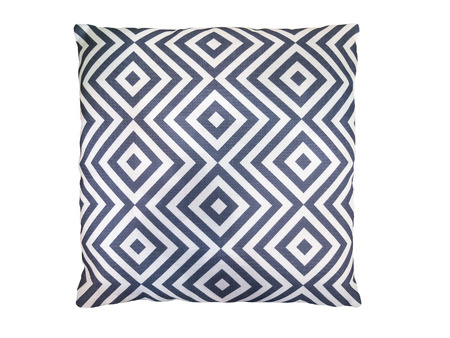 Decorative Pillow With Geometric Pattern Isolated On White Awesome Geometric Pattern Decorative Pillows