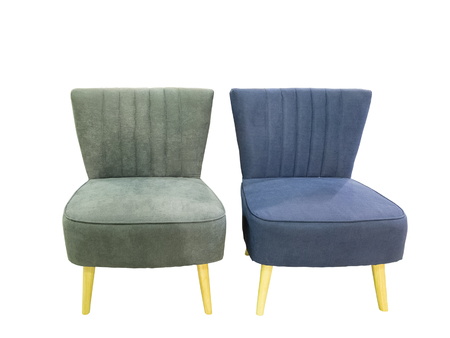 Two contemporary chairs without armrests, isolated on white background. Reklamní fotografie