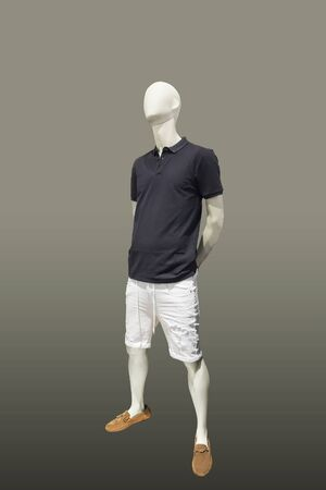 Full-length male mannequin in summer clothes, isolated. No brand names or copyright objects. Reklamní fotografie