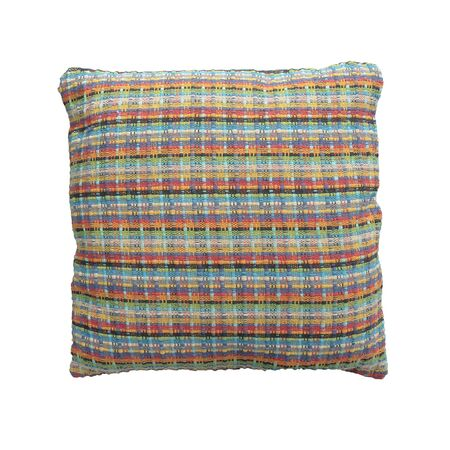 Soft colorful pillow isolated on white background.