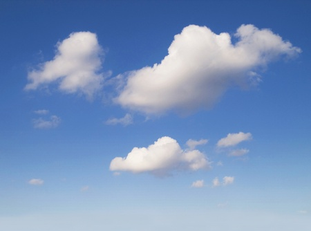 Blue summer sky, white clouds sky background