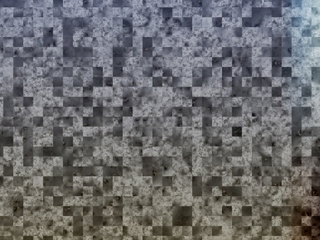 Abstract square gradient  gray shape, digitally generated Image