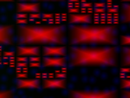 Abstract red dynamic rectangles background, digitally generated Image