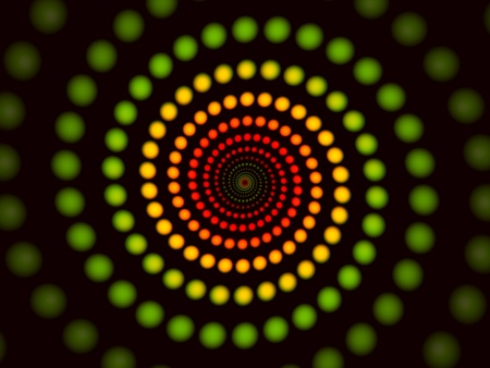 Abstract spiral background, digital colorful illuminated image Stock Photo