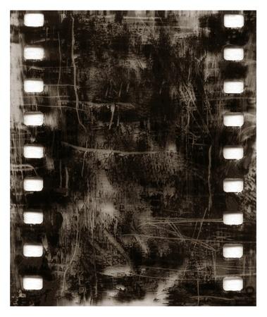 Old grunge film frame black scratched background