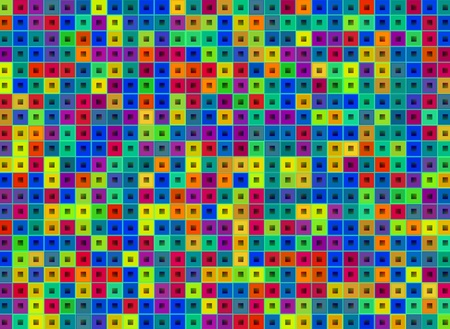 futuristic:  Abstract decorative futuristic multicolor squares  digital background