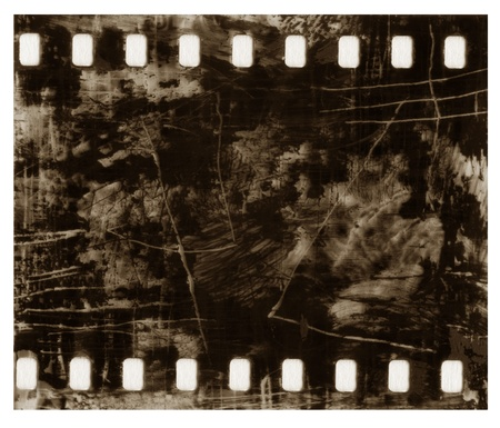scratches:  Abstract old  grunge film black scratched background