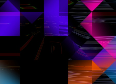 Abstract multicolor geometric digital style textured background