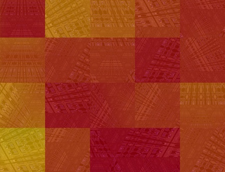 Abstract red squares background, digitally generated Image