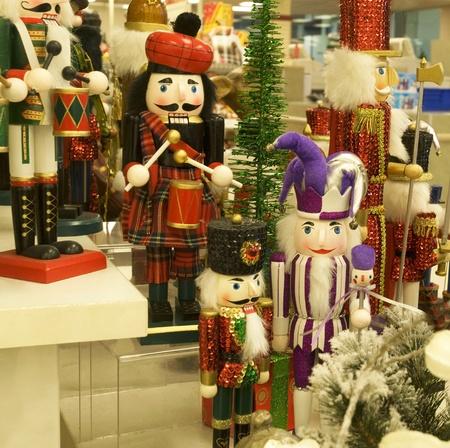 Christmas celebration, Nutcrackers colorful decoration background