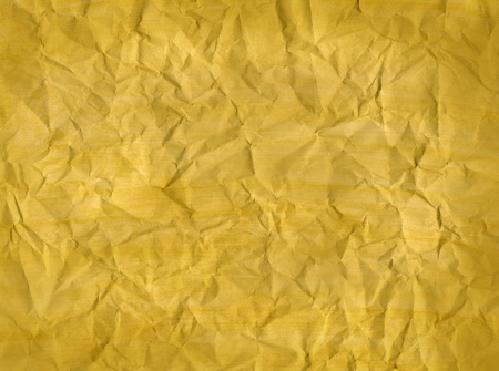 Crumpled  yellow paper, texture effect abstract background