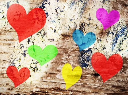 Valentines day celebration, abstract colorful expressive background Stock Photo