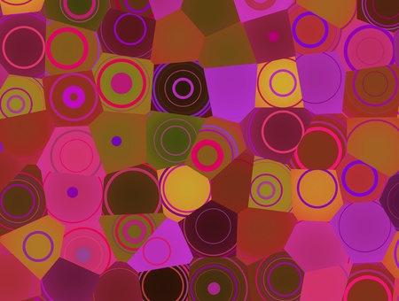 Abstract colorful circle background, geometric modern pattern photo