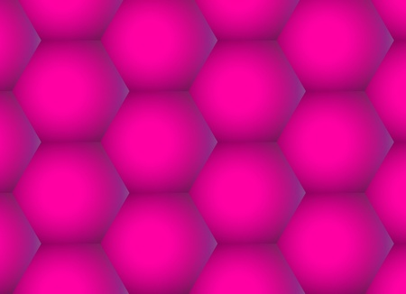 Abstract rose hexagons background, geometric gradient pattern photo