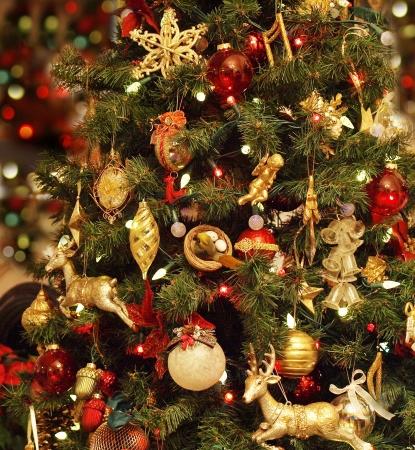 Christmas celebration decoration, traditional winter christmas tree