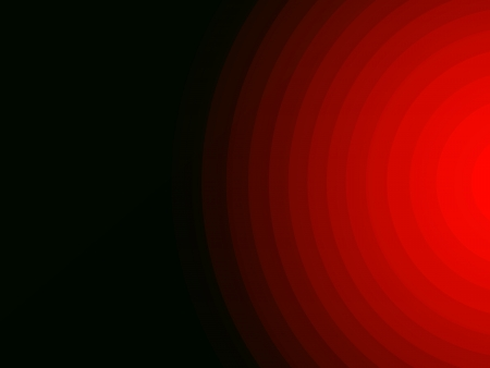 radiate: Abstract background red concentric radiate light pattern