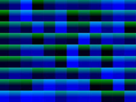 Abstract blue and green squares background, decorative gradient pattern