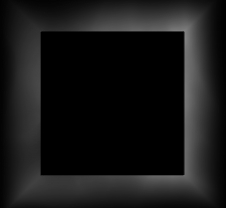 Empty picture frame, geometric cube art background