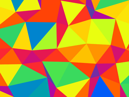 Abstract colorful  triangles background, geometric futuristic pattern 写真素材