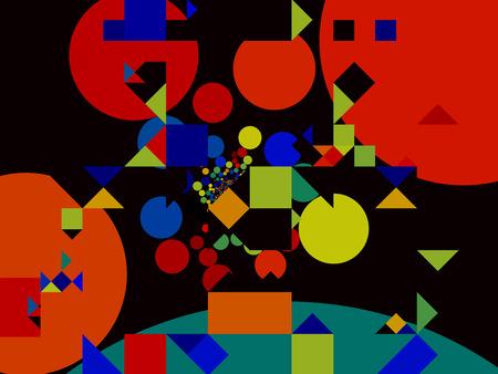 Abstract colorful modern decorative geometric mosaic pattern