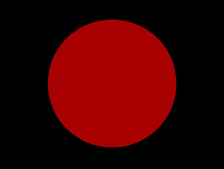 Abstract modern red cercle on black background Stock Photo