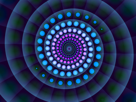 Abstract  blue spiral background colorful illuminated image photo