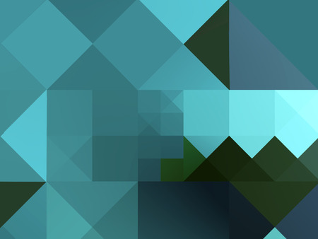Abstract decorative square modern blue green pattern