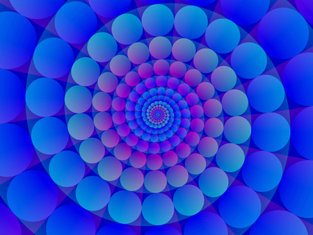Abstract  blue spiral background geometric gradient pattern