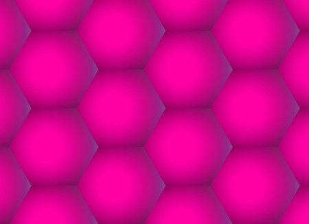 Abstract rose hexagons background, geometric gradient pattern