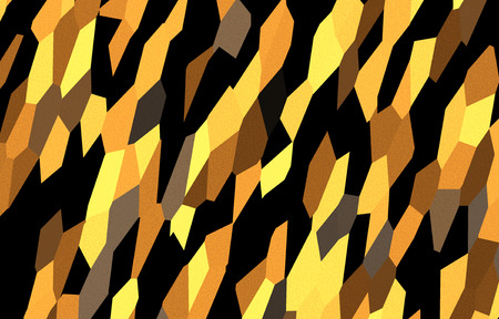 Abstract dynamic colorful  pattern, yellow  black, ocher, umber Stock Photo
