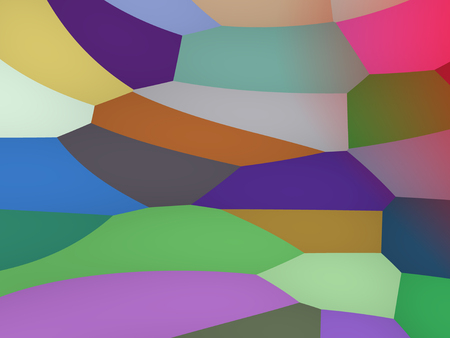 Abstract decorative contemporary dynamic colorful geometric waves