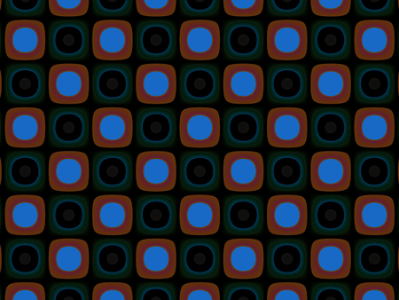 sectioned: Abstract decorative pattern geometric wall sound speakers Stock Photo