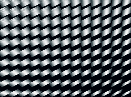 Abstract decorative modern grey cylinders diagonal pattern