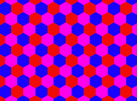 Abstract advertising, contemporary red, blue, pink, geometric pattern presentation Imagens