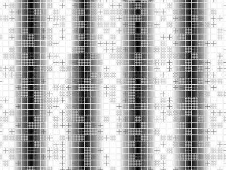 Abstract advertising, stained-glass black and white, geometric architecture design