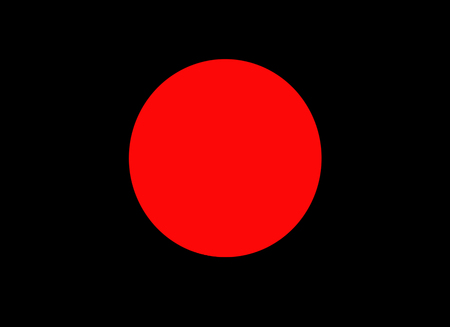 Abstract red cercle on black background, contemporary fluorescent surface pattern Imagens - 112521167