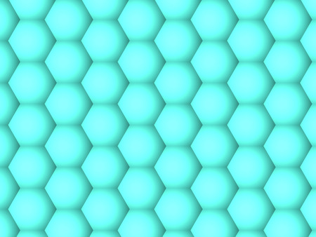 Abstract background, gradient geometric motion green hexagons pattern