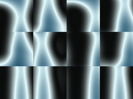 Abstract black and blue, geometric distorted squares advertising, modern pattern Imagens - 116702069