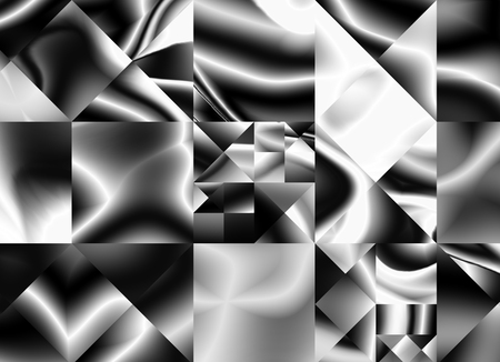 Abstract black and white gradient distorted, geometric advertising modern pattern