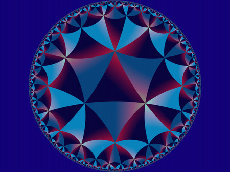 Abstract advertising blue gradient kaleidoscopic background, geometric modern pattern Imagens