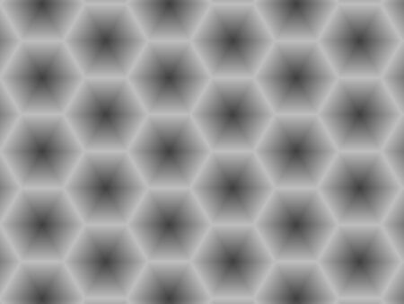 Abstract contemporary background, modern monochrome geometric gradient gray hexagons