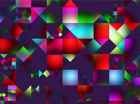 Abstract advertising, modern multicolored gradient geometric background, fluorescent illustration