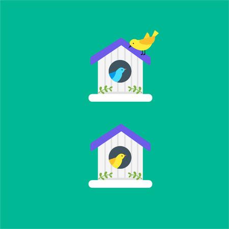 Bird House with Birds