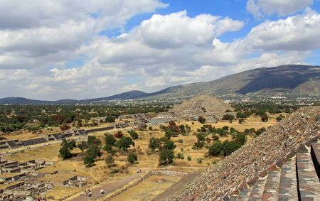 View of the Teotihuacan Moon Pyramid Mexico City