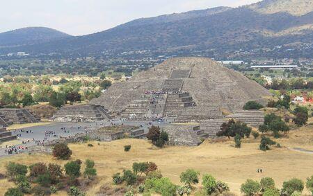 View of the Teotihuacan Moon Pyramid Mexico City, 版權商用圖片