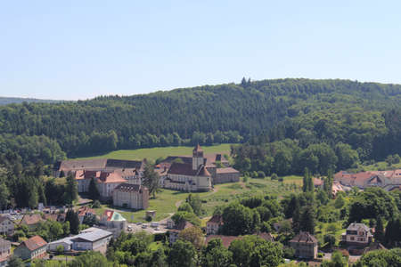 View of the city of Bitche from the Citadel located in Lorraine France Reklamní fotografie
