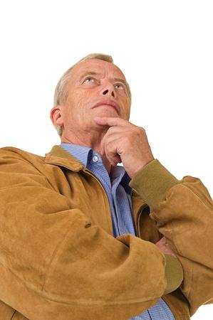 Senior man standing Stock Photo