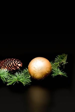 Christmas decoration. with dark background