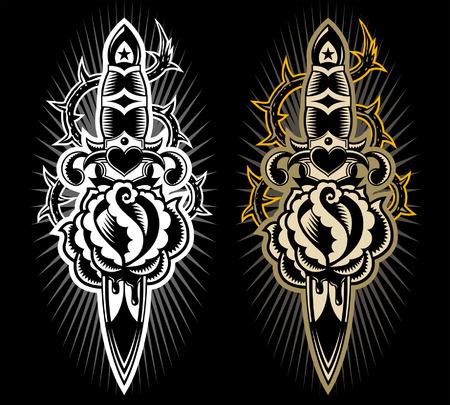 tattoo style design Illustration