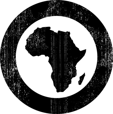 black silhouette of african continent
